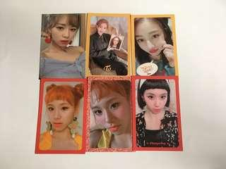 WTS TWICE CHAEYOUNG/JEONGYEON/JIHYO OFFICIAL PHOTOCARD