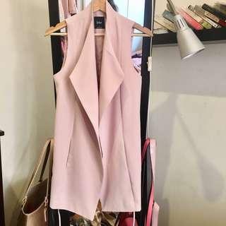 Sportsgirl Pink Vest/Gilet With Waist Tie