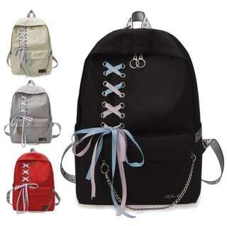 🆓📮 fancy 🎀 shoelaces backpack
