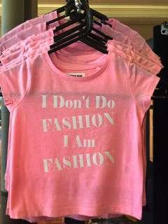 """I Don't Do Fashion"" T-shirt (Size: 1-16)"