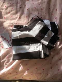 Supre Off Shoulder Bodycon Stripe Dress