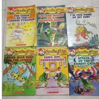 Geronimo Stilton The Curse of the Cheese Pyramid / The Curse of the Cheese Pyramid / Cat and Mouse in a Haunted House / I'm Too Fond of My Fur!  / Four Mice Deep in the Jungle  / Paws Off, Cheddarface!  / Attack of the Bandit Cat