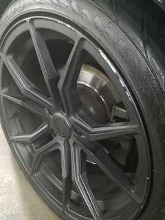 Rim Restoration Before & After Picture