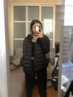 ZARA black down jacket