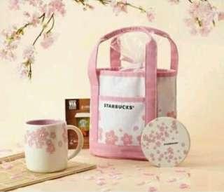 Sakura Starbucks Lunch Bag