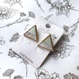 Anting Marble Segitiga / Triangle Marble Earrings