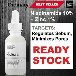 [NEW& READY STOCK] The Ordinary Niacinamide 10% + Zinc 1% 30ml 100% original