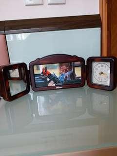 時鐘,鏡,三合一相架