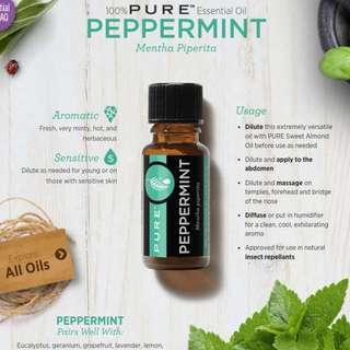 🚚 Pure Peppermint Essential Oil 15ml