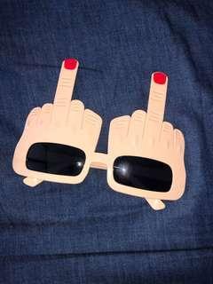 Finger sunglasses funny