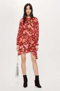 Topshop houndstooth asymmetric dress