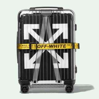 """OFF-WHITE x Rimowa """"See Through"""" black luggage 2018"""