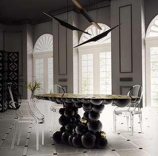 ✨牛頓思想 金屬球體造型桌✨