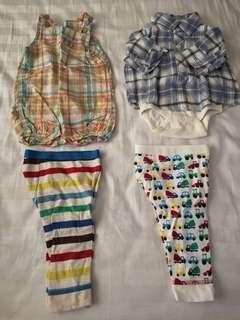 Baby Gap/Mothercare/H&M bundle for 0-3 months (4 pcs)