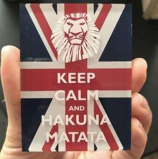 Lion King 英國🇬🇧旗磁石貼