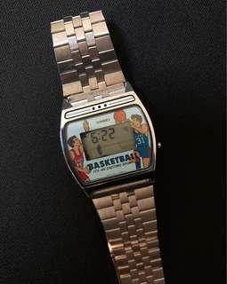 🚚 Vintage Casio 籃球 遊戲錶 GF-11 超級罕見 收藏品