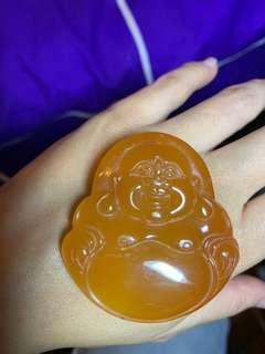 塘色 糖色 橙色瑪瑙笑佛
