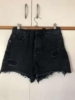 New Look Balck Cut off shorts