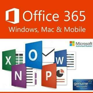 Genuine Microsoft Office 365 pro plus Mac/ windows/antivirus /corel#ssv8
