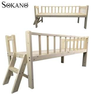EASEL WOODEN BABY BED BABY COT ATTACHED TO PARENTS BED WITH STAIRCASE