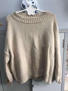 奶茶色毛衣