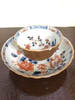 China Porcelain Cup and Saucer Brown Kiln Set
