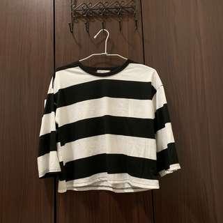🚚 🧧黑白條紋長袖上衣