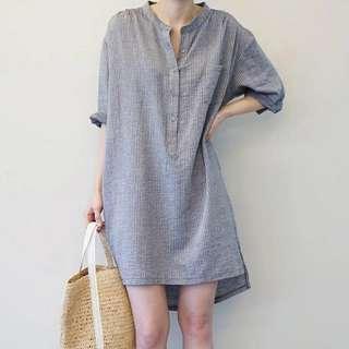 🚚 Stripe Shirt Dress