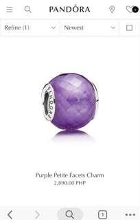 Purple petite facets charms