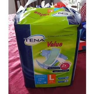 Clearance! Tena L Size Adult Diapers Value Pack (10pcs/pk) - 14 packs