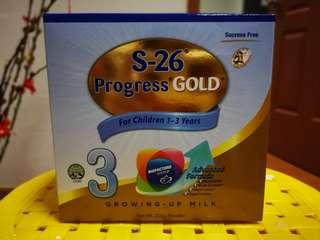 🚚 S26 Progress Gold Stage 3 Growing up Milk 200G