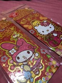 New 8pc Sanrio Melody / Hello Kitty red packet / ang pow