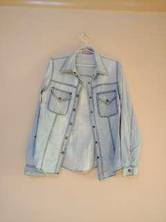Wish chambray button up top
