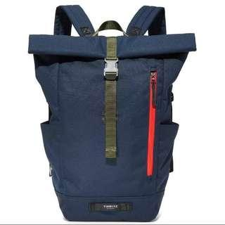 BNIB Navy Timbuk2 Roll Top Tuck Laptop Backpack