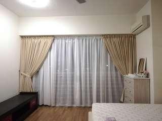 Curtain tempah murah