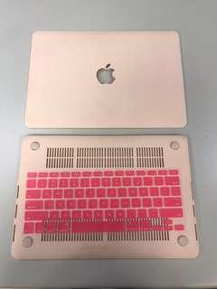 "Macbook Pro Retina 13"" 2015 A1506 Blush Pink Hard Case and keyboard protector"