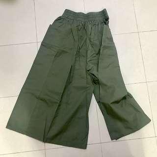 清貨 墨綠色闊腳褲