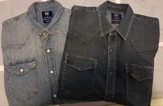 Gap Denim Shirt Slim Fit
