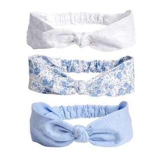H&M Girl Headband Set of 3, Free Size