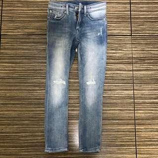H&M girl demin skinny jeans 女童牛仔褲