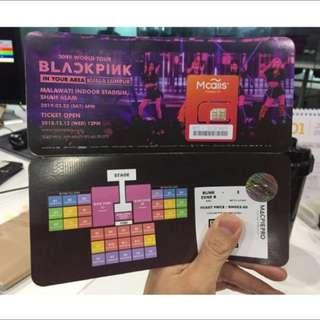 2 RED tickets RM1050 BlackPink Malaysia 2019