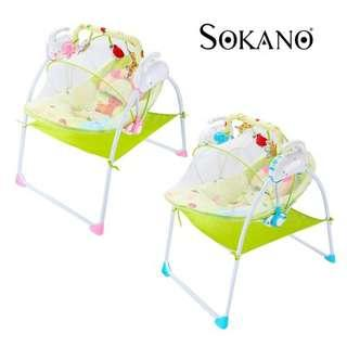AUTO SWING ELECTRIC MOTORIZED MULTI-FUNCTION ELECTRONIC BABY CRADLE WITH TIMER AND MELODY