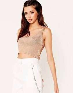 Glassons Rose Gold Knit Top