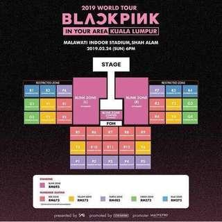 WTS selling BLACKPINK BLINK AND YELLOW ZONE TIX IN KL TICKETS