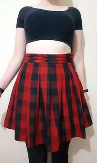 RETRO GIRL Tartan Skirt size 10