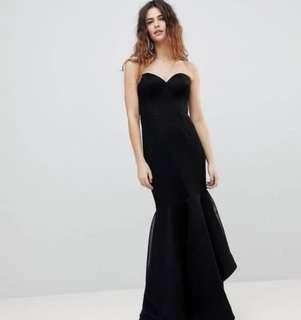 Bariano black evening gown