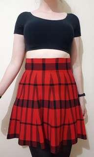 VALLEYGIRL Knitted Tartan Skirt size M