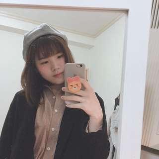 🚚 正韓 千鳥格紋畫家帽
