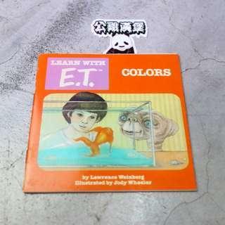 「E.T ET 外星人 環球電影 老品 書刊 @公雞漢堡」