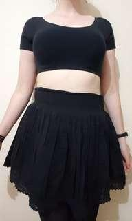 Black Layered Skirt size M